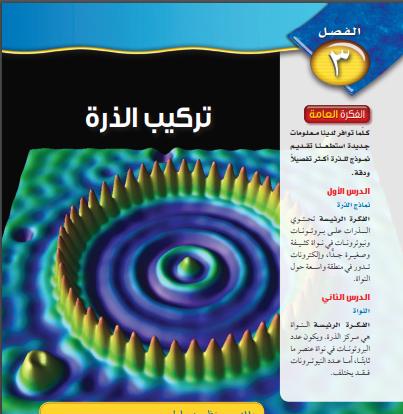 حل كتاب العلوم الفصل الثالث تركيب الذرة